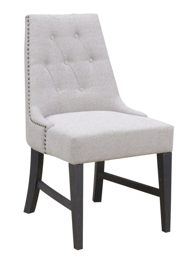 Emerald Home Wallingford Upholstered Dining Chair Dark Walnut, Antique Black  D750-22 - D75022 In By Emerald Home Furnishings In Winnemucca, NV - Emerald