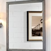 "Rustic Chic 28"" Mirror - Silvered Oak Product Image"