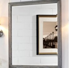 "Rustic Chic 28"" Mirror - Silvered Oak"