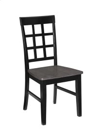 Dining Chair (2/Ctn) - Gray/Black Finish Product Image