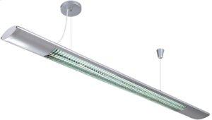 Fluorescent Ceiling Lamp, Silv, Fluor. T5/6400k Tube 28wx2