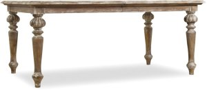 """Chatelet Rectangle Leg Dining Table with Two 18"""" Leaves"""