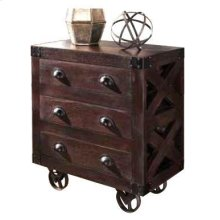 Six-drawer Dark Brown Accent Cabinet