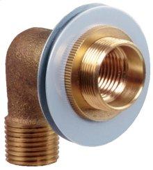 Rough Brass Lock Shower Arm Ell