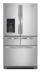 Whirlpool® 26 cu. ft. Double Drawer Refrigerator with Dual Icemakers Product Image