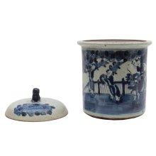 Figures Ceramic Pot