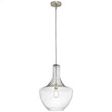 Everly Collection Everly - 1 Light Pendant - Brushed Nickel