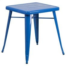 23.75'' Square Blue Metal Indoor-Outdoor Table