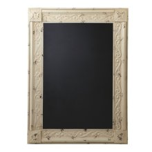 Distressed Ivory Framed Chalkboard.