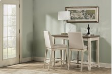 Clarion 3-piece Counter Height Side Dining Set With Parson Stools - Distressed Gray Top With Sea Whi