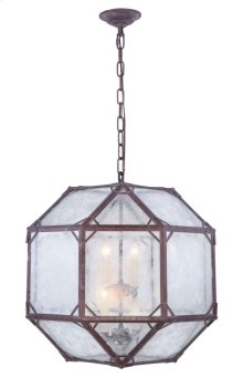 Gordon Collection 4-Light Saddle Rust Finish Pendant