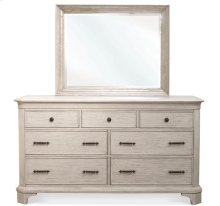 Aberdeen Landscape Mirror Weathered Worn White finish