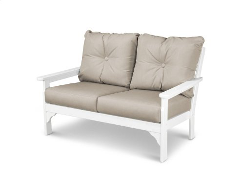 White & Cast Ash Vineyard Deep Seating Settee