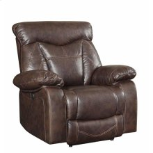 Zimmerman Dark Brown Faux Leather Power Motion Recliner
