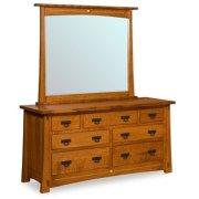 """Castlebrook 7 Drawer 65"""" Dresser Product Image"""