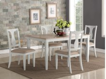 Eden Wood 2 Tone 7PC Dining Set