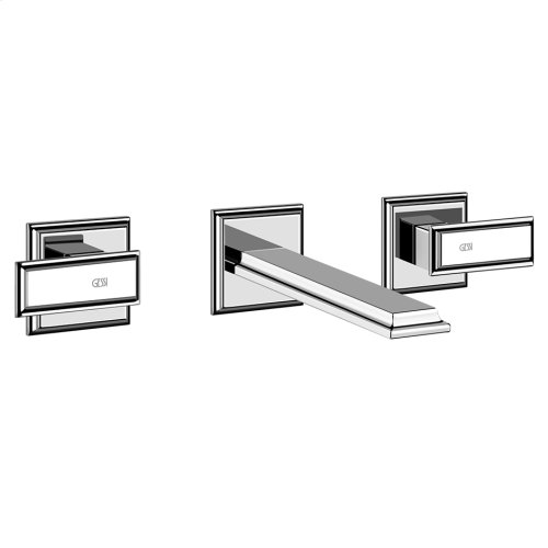 """TRIM PARTS ONLY Wall-mounted washbasin mixer trim Spout projection 8-1/4"""" Drain not included - See DRAINS section Requires in-wall rough valve 48089 Max flow rate 1"""