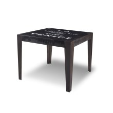 "HH-8725  Graphic 38"" Square Dining Table"
