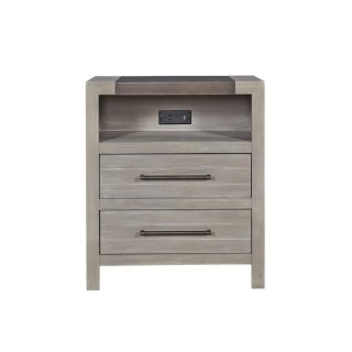 Metal top Nightstand