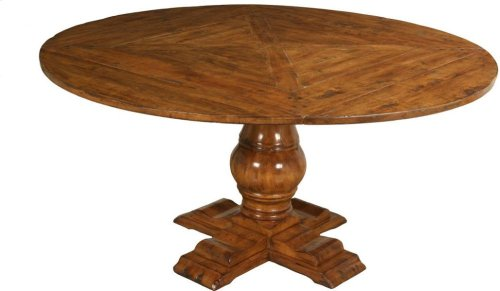 """48"""" Round Dining Table Top with Pedestal Base and (4) Side Chairs Set"""