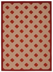 Aloha Alh02 Red Rectangle Rug 5'3'' X 7'5''