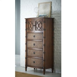 Bamboo Lingerie Chest - Mahogany Emporium Finish
