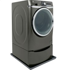 Low profile universal washer floor tray in carbon metallic