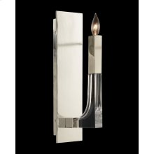 Acrylic and Nickel Single-Light Wall Sconce