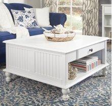 Square Coffee Table Beach White