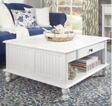 Square Coffee Table Beach White