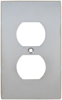 Duplex Receptacle Modern Switchplate
