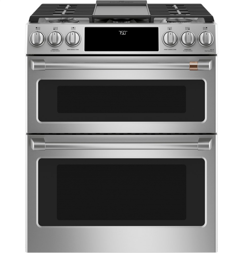 Cgs750p2ms1 Cafe 30 Slide In Front Control Gas Double Oven With