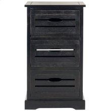 Samara 3 Drawer Cabinet - Black