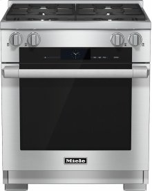HR 1924 G 30 inch range Dual Fuel with M Touch controls, Moisture Plus and M Pro dual stacked burners