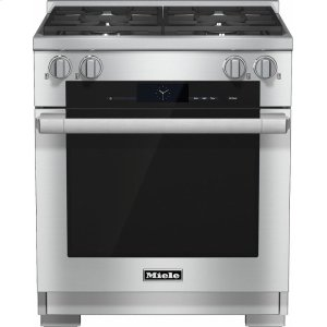 MieleHR 1924-2 G 30 inch range Dual Fuel with M Touch controls, Moisture Plus and M Pro dual stacked burners