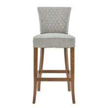Quilted Barstool - Linen