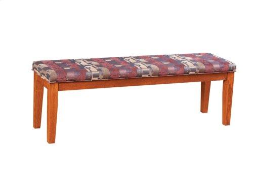 """Tapered Leg 60"""" Upholstered Bench"""