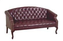 Queen Ann Traditional Ox Blood Sofa