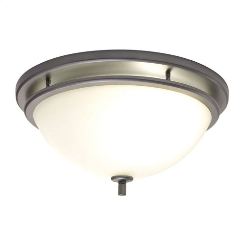 InVent Series Single-Speed 70 CFM, 2.0 Sones Decorative Bathroom Exhaust Fan with Light in Polished Steel Finish