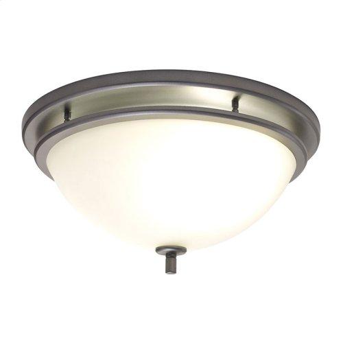 InVent Series Single-Speed 70 CFM, 2.0 Sones Decorative Fan Light in Polished Steel Finish