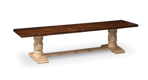 Charleston Dining Bench, Wood Seat
