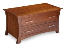 Loft Blanket Chest with False Fronts, Wood Top
