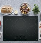 "GE Profile 30"" Electric Cooktop with Built-In Knob Control Product Image"