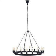 "Teleport 43"" Steel Chandelier in Brown"