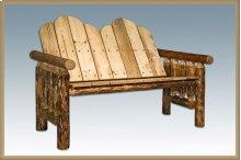 Glacier Country Log Deck Bench