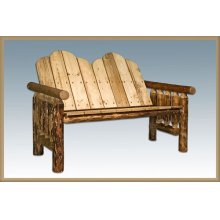 Glacier Country Log Deck Bench