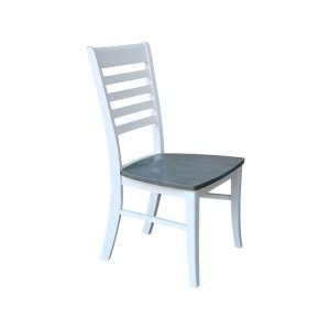 JOHN THOMAS FURNITURERoma Chair in Heather Gray & White