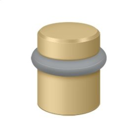 "Round Universal Floor Bumper 1-1/2"", Solid Brass - Brushed Brass"