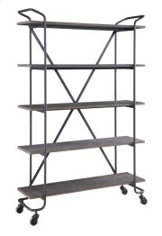 "Emerald Home Quincy 48"" Bookshelf W/5 Shelves, Antique Grey Ac415-48 Product Image"