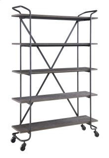 "Emerald Home Quincy 48"" Bookshelf W/5 Shelves, Antique Grey Ac415-48"
